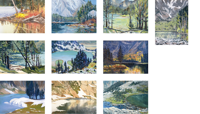 Teton Mountain Lakes Note Cards