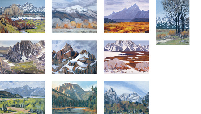 Teton Mountain Range Note Cards